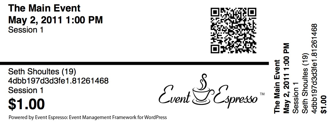 Event Espresso Ticket